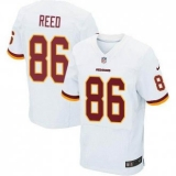 Nike Washington Redskins #86 Jordan Reed White NFL Elite Jersey