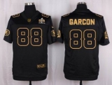 Nike Washington Redskins #88 Pierre Garcon Black Men\'s Stitched NFL Elite Pro Line Gold Collection Jersey