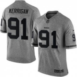 Nike Washington Redskins #91 Ryan Kerrigan Gray Men\'s Stitched NFL Limited Gridiron Gray Jersey
