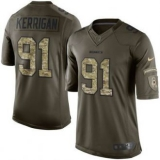Nike Washington Redskins #91 Ryan Kerrigan Nike Green Salute To Service Limited Jersey