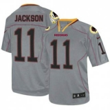 Washington Redskins #11 DeSean Jackson Lights Out Grey NFL Elite Jersey
