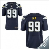 Nike San Diego Chargers #99 Law Navy Blue Elite Home Jersey