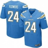 Nike San Diego Chrgers #24 Brandon Flowers Electric Blue Alternate Men\'s Stitched NFL New Elite Jersey