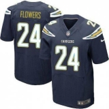 Nike San Diego Chrgers #24 Brandon Flowers Navy Blue Team Color Men\'s Stitched NFL New Elite Jersey