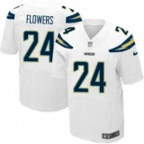 Nike San Diego Chrgers #24 Brandon Flowers White Men\'s Stitched NFL New Elite Jersey