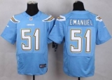 Nike San Diego Chrgers #51 Kyle Emanuel Electric Blue Alternate Men\'s Stitched NFL New Elite Jersey