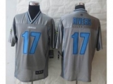 San Diego Charger #17 Rivers Grey Jerseys(Vapor Elite)