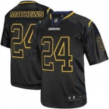 San Diego Chargers #24 Ryan Mathews Lights Out Black NFL Elite Jersey