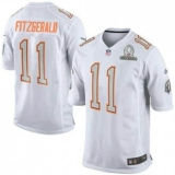 New Cardinals #11 Larry Fitzgerald White 2014 Pro Bowl NFL Elite Team Rice Jersey