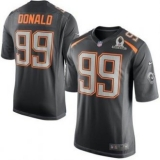 St Louis Rams #99 Aaron Donald Gray 2015 Pro Bowl NFL Game Team Irvin Jersey