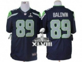 NEW Seahawks #89 Doug Baldwin Steel Blue Team Color Super Bowl XLVIII NFL Limited Jersey