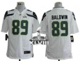 NEW SeNEW Seahawks #89 Doug Baldwin White Super Bowl XLVIII NFL Game Jersey