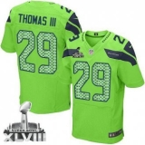 Nike Seahawks #29 Earl Thomas III Green Alternate Super Bowl XLVIII NFL Elite Jersey