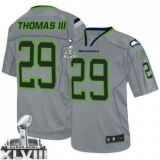 Nike Seahawks #29 Earl Thomas III Lights Out Grey Super Bowl XLVIII NFL Elite Jersey