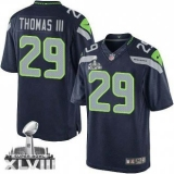 Nike Seahawks #29 Earl Thomas III Steel Blue Team Color Super Bowl XLVIII NFL Limited Jersey