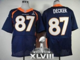 NEW Broncos #87 Eric Decker Navy Blue Alternate Super Bowl XLVIII NFL Jerseys