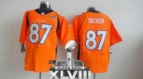 NEW Broncos #87 Eric Decker Orange Team Color Super Bowl XLVIII NFL Jerseys