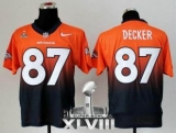 NEW Broncos #87 Eric Decker Orange-Navy Blue Super Bowl XLVIII NFL Elite Fadeaway Fashion Jerseys