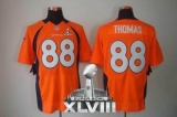NEW Broncos #88 Demaryius Thomas Orange Team Color Super Bowl XLVIII NFL Elite Jerseys