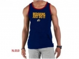 Nike NFL Washington Red Skins Sideline Legend Authentic Logo men Tank Top D Blue 2