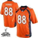 NEW Broncos #88 Demaryius Thomas Orange Team Color Super Bowl XLVIII NFL Jerseys 2014