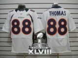 NEW Broncos #88 Demaryius Thomas White Super Bowl XLVIII NFL Elite Jerseys