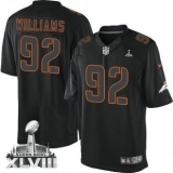 NEW Broncos #92 Sylvester Williams Black Impact Super Bowl XLVIII NFL Limited Jerseys