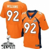 NEW Broncos #92 Sylvester Williams Orange Team Color Super Bowl XLVIII NFL Jerseys