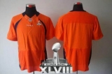 NEW Broncos Blank Orange Team Color Super Bowl XLVIII NFL Elite Jerseys