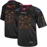 Nike Texans #99 J J Watt Black Men\'s Stitched NFL Elite Camo Fashion Jersey