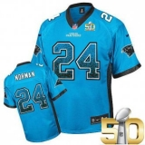 Youth Nike Panthers #24 Josh Norman Blue Alternate Super Bowl 50 Stitched NFL Elite Drift Fashion Jersey