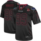 Nike Texans #99 J J Watt Lights Out Black With 10th Patch Men\'s Stitched NFL Elite Jersey