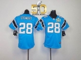 Youth Nike Panthers #28 Jonathan Stewart Blue Alternate Super Bowl 50 Stitched NFL Elite Jersey