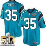 Youth Nike Panthers #35 Mike Tolbert Blue Alternate Super Bowl 50 Stitched NFL Elite Jersey