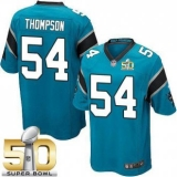 Youth Nike Panthers #54 Shaq Thompson Blue Alternate Super Bowl 50 Stitched NFL Elite Jersey
