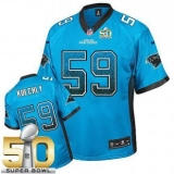 Youth Nike Panthers #59 Luke Kuechly Blue Alternate Super Bowl 50 Stitched NFL Elite Drift Fashion Jersey