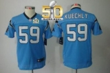 Youth Nike Panthers #59 Luke Kuechly Blue Alternate Super Bowl 50 Stitched NFL Limited Jersey
