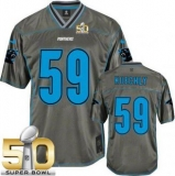 Youth Nike Panthers #59 Luke Kuechly Grey Super Bowl 50 Stitched NFL Elite Vapor Jersey