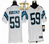 Youth Nike Panthers #59 Luke Kuechly White Super Bowl 50 Stitched NFL Elite Jersey