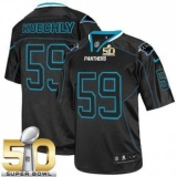 Youth Nike Panthers #59 Luke Kuechly Lights Out Black Super Bowl 50 Stitched NFL Elite Jersey