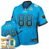 Youth Nike Panthers #88 Greg Olsen Blue Alternate Super Bowl 50 Stitched NFL Elite Drift Fashion Jersey