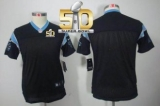 Youth Nike Panthers Blank Black Team Color Super Bowl 50 Stitched NFL Limited Jersey