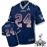 Youth Nike Patriots #24 Darrelle Revis Navy Blue Team Color Super Bowl XLIX NFL Elite Drift Fashion Jersey