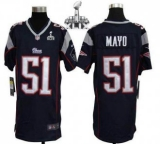 Youth Nike Patriots #51 Jerod Mayo Navy Blue Team Color Super Bowl XLIX Stitched NFL Elite Jerseys