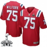 Youth Nike Patriots #75 Vince Wilfork Red Alternate Super Bowl XLIX Stitched NFL Elite Jersey