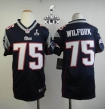 Youth Nike Patriots #75 Vince Wilfork Navy Blue Team Color Super Bowl XLIX Stitched NFL Elite Jerseys