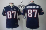 Youth Nike Patriots #87 Rob Gronkowski Navy Blue Team Color Super Bowl XLIX Stitched NFL Limited Jersey