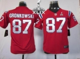 Youth Nike Patriots #87 Rob Gronkowski Red Alternate Super Bowl XLIX Stitched NFL Elite Jersey