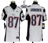 Youth Nike Patriots #87 Rob Gronkowski White Super Bowl XLIX Stitched NFL Elite Jersey