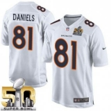 Youth Nike Broncos #81 Owen Daniels White Super Bowl 50 Stitched NFL Game Event Jersey